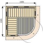 IR savna Rondium SG1515KL